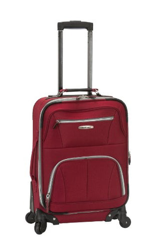 Rockland Luggage 19 Inch Expandable Spinner Carry On, Red, One Size