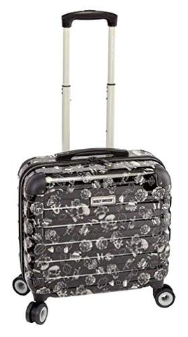 "Harley Davidson 17"" Overnight Carryon with Spinners, Gray Tattoo"