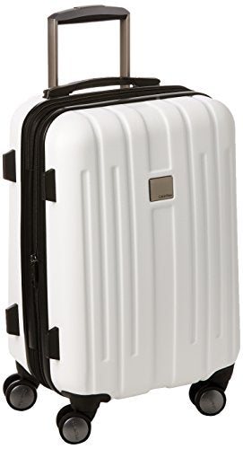 Calvin Klein Cortlandt 3.0 20 Inch Upright Carry-On Suitcase, White, One Size