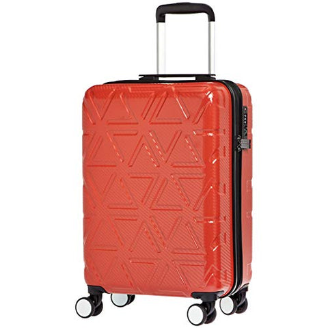 AmazonBasics Pyramid Luggage Spinner with TSA Lock, 20-Inch Carry-On, Red