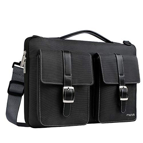 MOSISO Laptop Shoulder Bag Polyester 360° Protective Handbag with Organizer Pockets Compatible