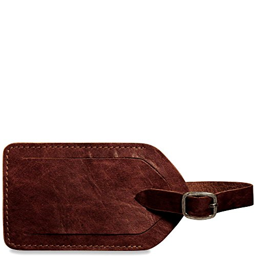 Jack Georges Voyager Collection Leather Luggage Tag in Brown