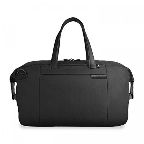 Briggs & Riley Baseline Large Travel Satchel,Black,12X19.8X9