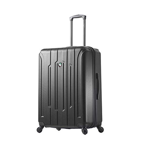 Mia Toro Crosetti Hardside 30 Inch Spinner Luggage, Black