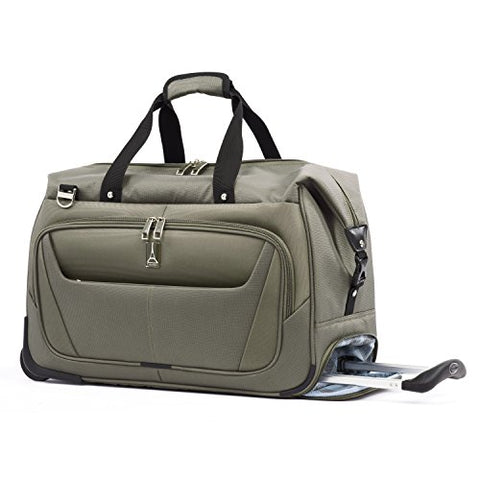 "Travelpro Luggage Maxlite 5 20"" Lightweight Carry-On Rolling Duffel Suitcase, Slate Green One Size"