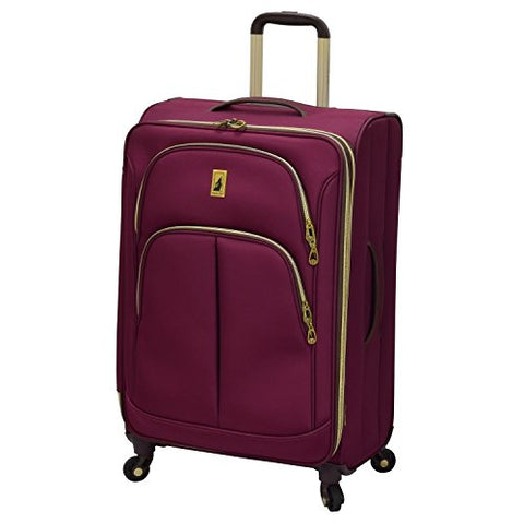 "London Fog Coventry Hyperlights 25"" Expandable Spinner, Plum"