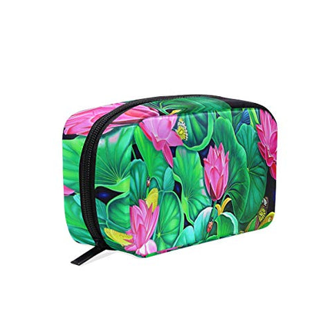 HU MOVR Makeup Organizer Murali Butterfly Womens Zip Toiletry Bag Large Case Cosmetic Bags