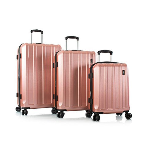 "Leo by Heys - Lexon Hard Side Spinner Luggage 3pc Set - 31"", 27"" & 21.5"" (Rose Gold)"