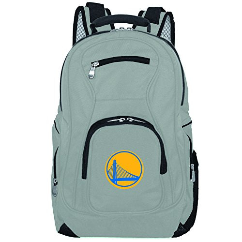 NBA Golden State Warriors Voyager Laptop Backpack, 19-inches, Grey