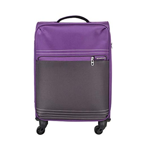 NEWCOM Carry On 20 Inch Luggage Softside with Packing Organizers Polyester Trolley Case Softshell Hand Baggage Cabin with Spinner Wheels Build-in TSA Lock for Fluent Travelers