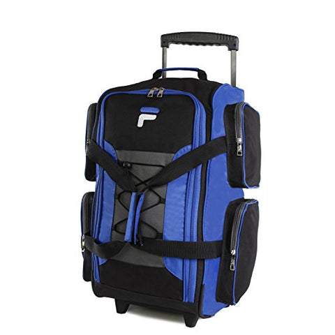 "Fila 22"" Lightweight Carry On Rolling Duffel Bag,  Blue,  One Size"