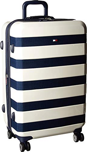 "Tommy Hilfiger Rugby 25"" Expandable Hardside Spinner, White"