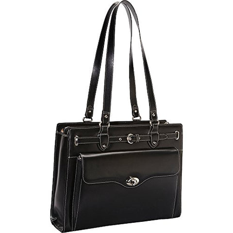 "McKlein USA Joliet 15"" Leather Laptop Tote EXCLUSIVE (Black)"