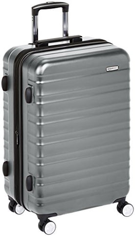Amazonbasics Premium Hardside Spinner Luggage With Built-In Tsa Lock - 28-Inch, Grey