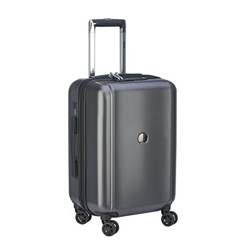 "Delsey Pluggage 19"" Hardside International Carry-On with USB Port (Black)"