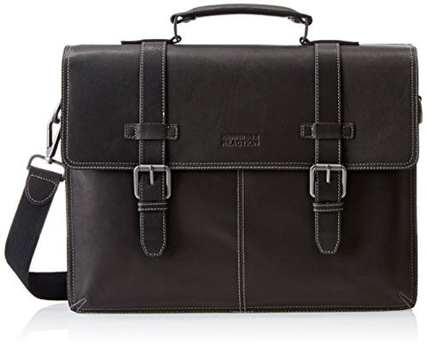Reaction Kenneth Cole Leather Double-Gusset Portfolio