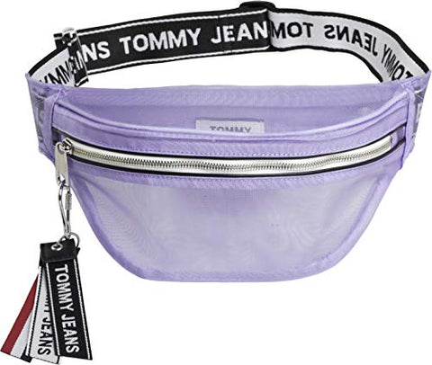 Tommy Jeans Logo Tape Mesh Womens Bum Bag One Size Pastel Lilac