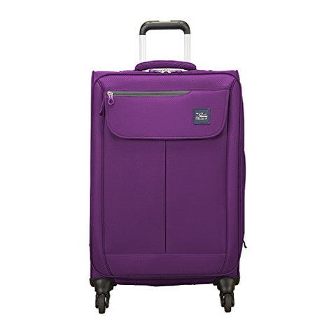 Skyway Mirage 2.0 24-inch 4-Wheel Spinner Luggage, Purple Magic