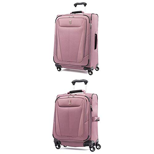 "Travelpro Luggage Maxlite 5 Lightweight Expandable Suitcase + 20"" Carry-On Spinner (Dusty Rose)"