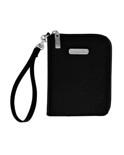 Baggallini Luggage Passport Case With Rfid Blocking Fabric, Black, One Size