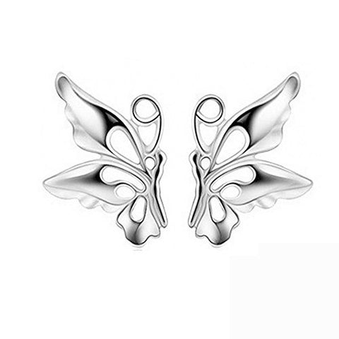 Acxico Little Cute Hollow out Butterfly Stud Earrings