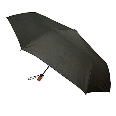 London Fog Auto Open Close Umbrella, Black, One Size