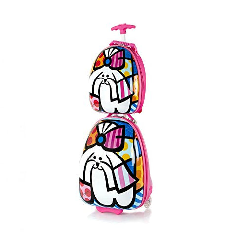 Heys America Britto Egg Shape Luggage with Backpack (Multi-Britto Dog)