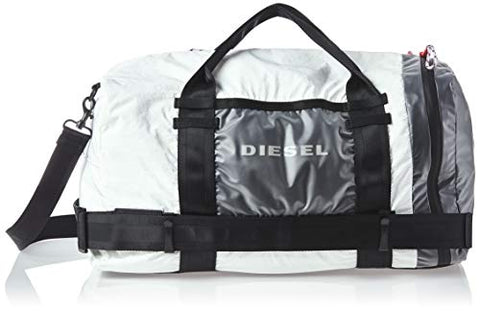 Diesel Men's CAGE Duffle M-Travel Bag, white/black UNI