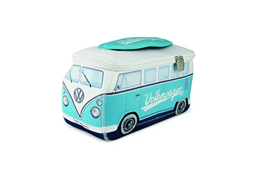 Vw Collection By Brisa Vw T1 Bus 3D Neoprene Universal Bag, Turquoise/White