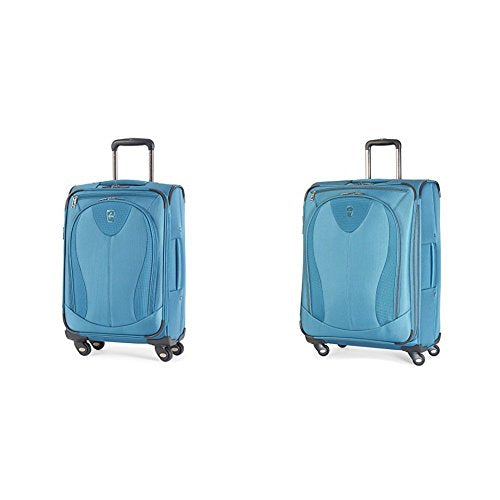 "Atlantic Luggage Ultra Lite 3 2 Piece set (21"" and 25"" Spinners), Turquoise"