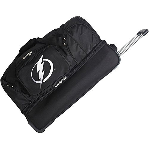 "Nhl Tampa Bay Lightning Rolling Drop-Bottom Duffel Bag, 27 X 16 X 14"", Black"