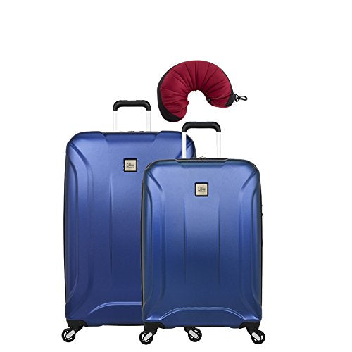 "Skyway Nimbus 3.0 | 3-Piece Set | 24"" and 28"" Expandable Spinners, Travel Pillow (Cobalt Blue)"