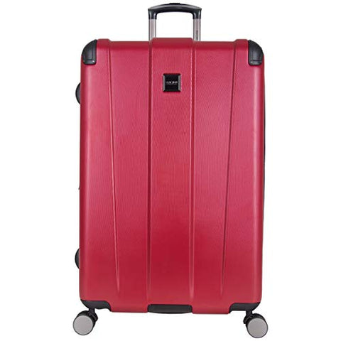 "Kenneth Cole Reaction Continuum 28"" Hardside 8-Wheel Expandable Upright Checked Spinner Luggage, Red"