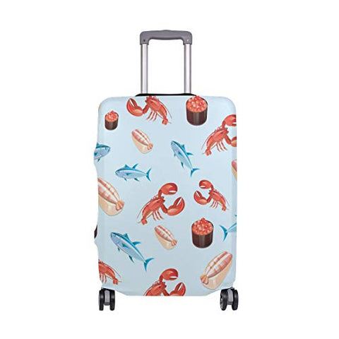 GIOVANIOR Fish And Cancer Luggage Cover Suitcase Protector Carry On Covers