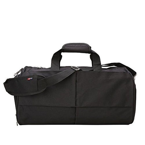 Bison Denim Multipurpose Duffel Bag Weekender Bag Carry On Travel Bag With Strap (Vintage Grey)