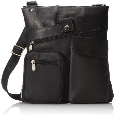 David King & Co. Multi Pocket Cross Bag, Black, One Size