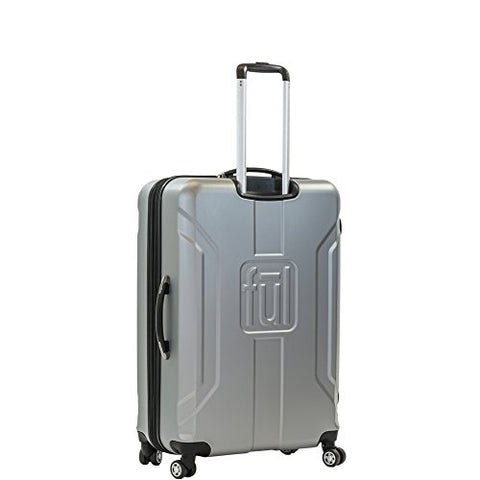 ful Luggage Payload 25in Spinner Rolling Luggage Suitcase, Upright Hard Case, Silver
