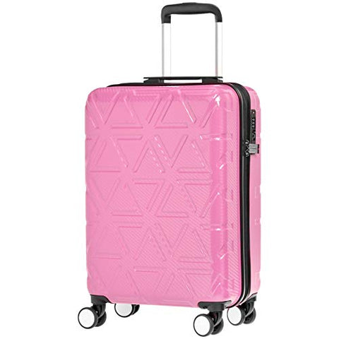 AmazonBasics Pyramid Luggage Spinner with TSA Lock, 20-Inch Carry-On, Pink