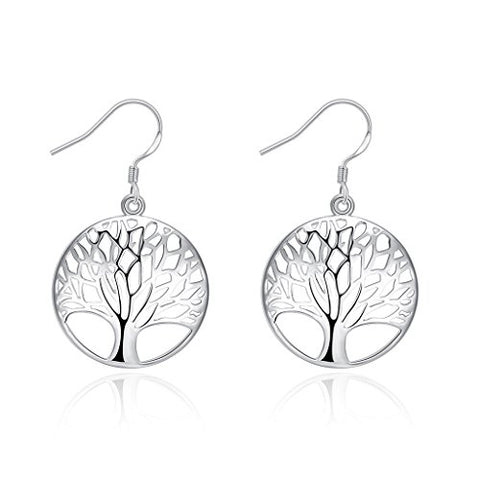 Acxico Women's .925 Sterling Silver Small Tree Of Life earring for gift