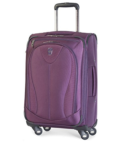 "Atlantic Luggage Ultra Lite 3 21"" Expandable Spinner, Purple"