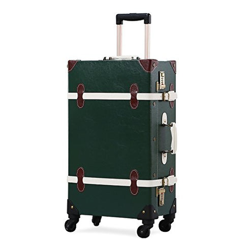 4bf8b5a5e816 Unitravel Vintage Suitcase Hard Shell Rolling Carry On Luggage Trolley Retro
