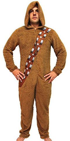 Bioworld Star Wars Chewbacca Wookiee Adult Hooded Costume Union Suit (Large)