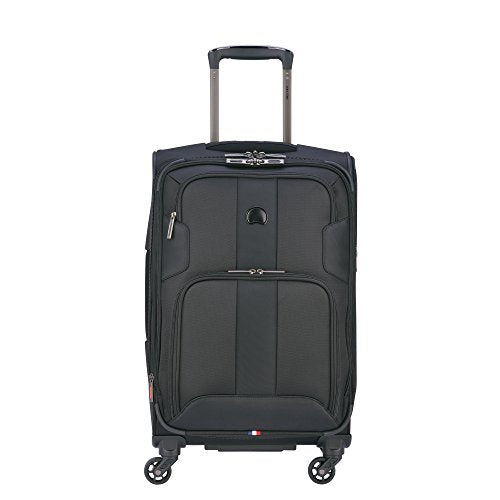 Delsey Luggage Sky Max Expandable Spinner Carry On, Black