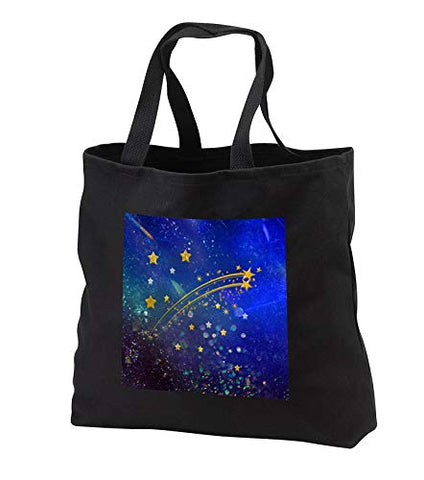Beverly Turner Star Design - Image of Gold, Green, Purple, and Blue Abstract Shooting Stars -