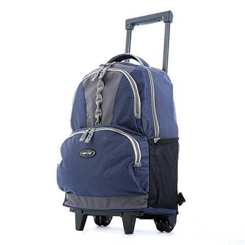 "Olympia 18"" Rolling Backpack, Wheeled Computer Bag in Navy"