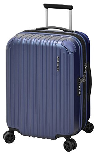 "London Fog Heathrow 21"" Expandable Spinner Carry-On, Indigo Blue"
