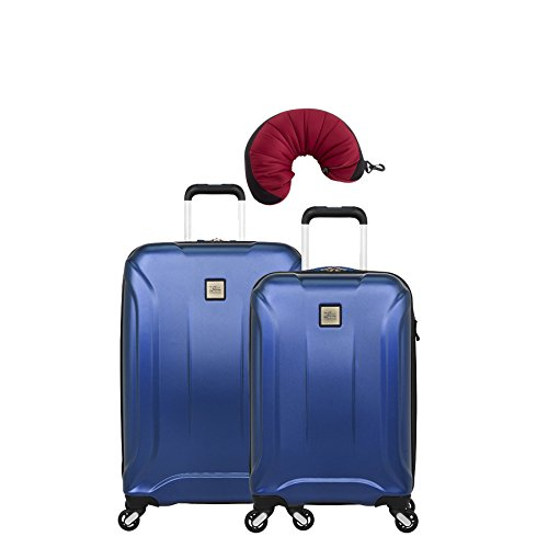 "Skyway Nimbus 3.0 | 3-Piece Set | 20"" and 24"" Expandable Spinners, Travel Pillow (Cobalt Blue)"