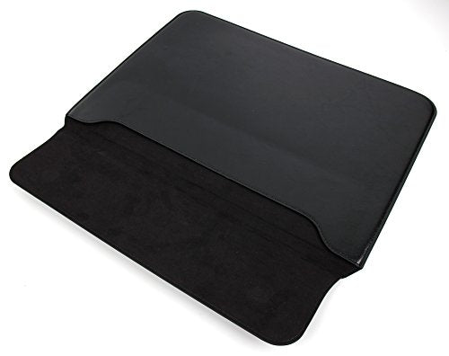 DURAGADGET Lightweight & Ultra-Portable Envelope-Style Pouch / Case in Black Synthetic Leather for the Acer Switch Alpha 12 Laptop