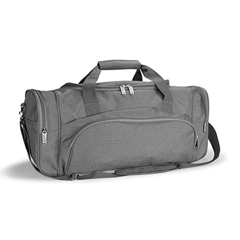 "Dalix Large 25"" Signature Travel Gym Bag W/Premium Lining In Gray"