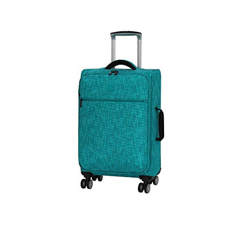 "it luggage 21.5"" Stitched Squares Lightweight Case, Aqua Blue"